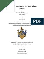 How Do Cross Sectional Properties Effect the Robustness of Truss Railway Bridges