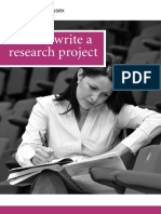 UoE - How to Write a Research Project
