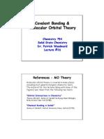 Covalent Bonding & Molecular Orbital Theory