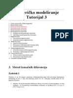 Numericko Modeliranje - Tutorijal 3