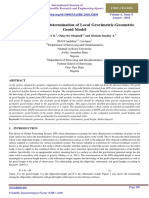 Procedure for the Determination of Local Gravimetric-Geometric Geoid Model by Eteje Sylvester O., Oduyebo Olujimi F. and Olulade Sunday A.