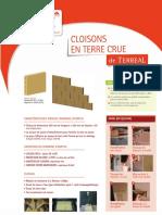 _Exemple 2 Plaque Cloison Argile