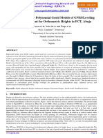 Comparison of Two Polynomial Geoid Models of GNSS/Leveling Geoid Development for Orthometric Heights in FCT, Abuja by Oluyori, P. D., Ono, M. N. and Eteje, S. O.