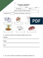 Evaluacion Consonantes F