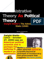 Administrative Theory as Political Theory