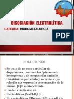 DISOCIACION ELECTROLITICA