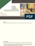 Uma Proposta de Interpretação Neurológica Da Evolução Da Linguagem