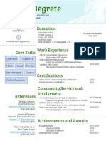 copy of resume  face-lift