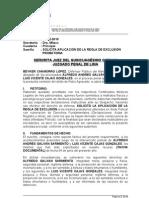 REGLA DE EXCLUSIÓN PROBATORIA
