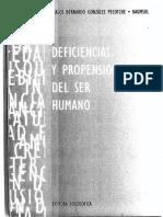 Gonzalez Pecotche Carlos - Deficiencias Y Propensiones Del Ser Humano