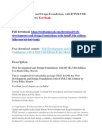Web Development and Design Foundations With HTML5 8th Edition Felke-Morris Test Bank