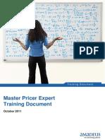 Master Pricer Expert October 2011