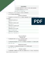 POLINOMIOS FORMULARIO