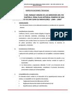 ESPECIFICACIONES TÉCNICAS - GUIA