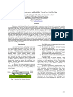 A Study on Microstructure and Reliability Tests of Low Cost Flip Chip