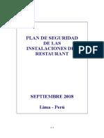 RESTAURANT Plan de seguridad