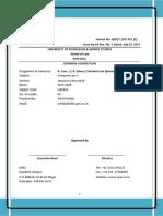 Course Plan- Company Law II- B.com., LL.B. (Hons.) Taxation- Shruti Reddy