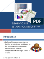 Elementos de Estadistica Descriptiva 2018