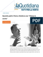 "Quando Padre Chenu Chiedeva ""Una Chiesa in Uscita"""