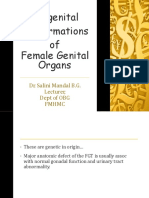 Congenital male formations