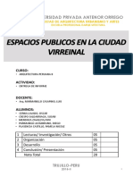 Informe Espacios Publicos en El Virreinato (upao)
