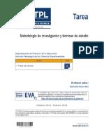 Metodología de Investigacion y Tecnicas de Estudio - Tarea