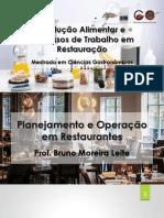 MCG - Parte 1; Planejamento e Operação Em Restaurantes