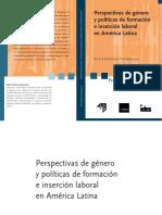 Perspectivas Genero Politicas Formacion Insercion Laboral en América Latina Silvia Cristina Yannoulas