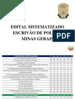 Edital Sistematizado Policia Civil Minas Gerais Escrivão