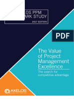 The Value of Project Management Excellence