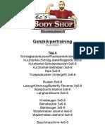 Update Ganzkoerpertraining 2x Pro Woche