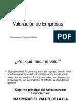 metodo de valoracion de empresas