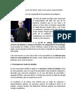 Lecciones de Steve Jobs