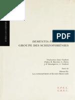 Dementia Praecox Ou Groupe Des Schizophrenies