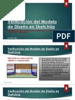 Verificación Del Modelo de Diseño en Sketchup