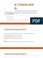Scientific Criteria and Methods