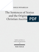 The Sentences of Sextus and the Origins of Christian Ascetiscism