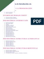 Temario Del Curso de Introducción a La Programación