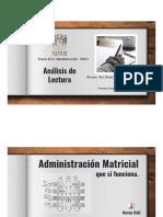 Analisis de Lectura Organización Matricial