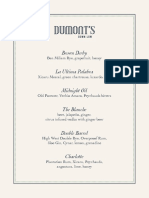 DuMont's Down Low Cocktail Menu