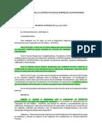 Decreto Supremo N°035-2001-PCM_Reglamento de Contratación de Empresas Supervisoras