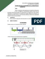 Aplicación de La Tecnologia de Ultrasonido en La Industria de Alimentos