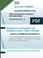 Dispersion Geoquimica Cerro Cetemin