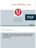Lululemon Sample Case Analysis