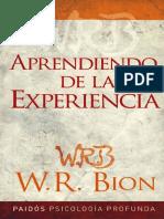 Bion W R - Aprendiendo de La Experiencia