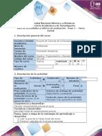 Guía de actividades y rúbrica de evaluación - Paso 1 - Tarea Inicial