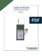 Vibrómetro HVM100 Manual