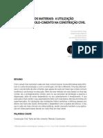 TECNOLOGIA DOS MATERIAIS a UTILIZAÇÃO Do Tijolo de Solo Cimento Na Construção Civil