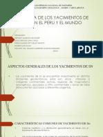 Litologia de Yacimientos de Sn