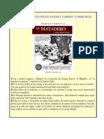 Actividades Para El Análisis Crítico de La Historieta El Matadero, De Breccia